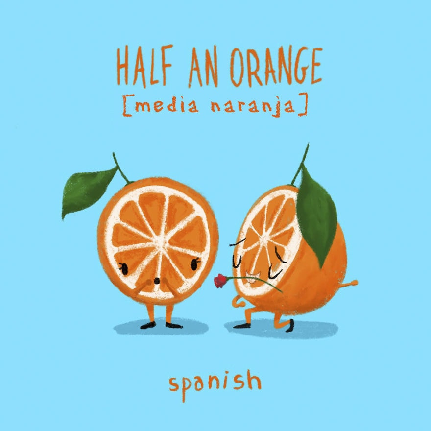 4. Половинка апельсина — испанский