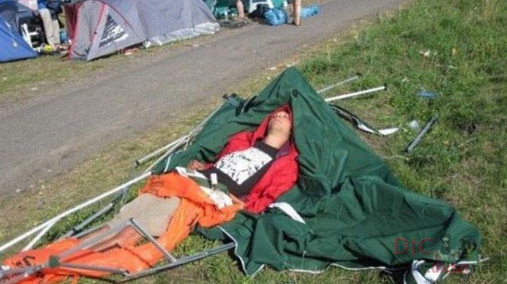 Когда лень победила и ты решил не ставить палатку. Хотя тут дело не в лени...