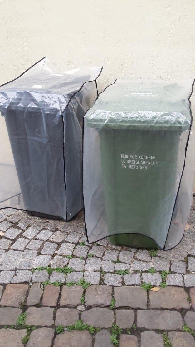 Защитные накидки для мусорных баков — вам и не снилось