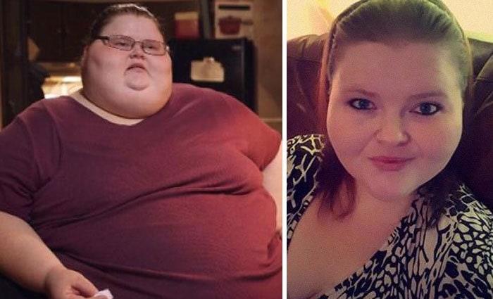 15. Эшли Данн-Братчер весила 328 кг, а похудела до 213 кг