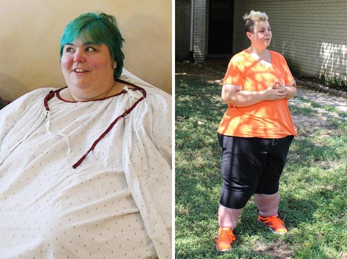 20. Паула весила 241 кг, а похудела до 171 кг