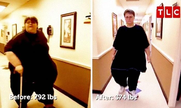 21. Джо Векслер весила 359 кг, а похудела до 169 кг