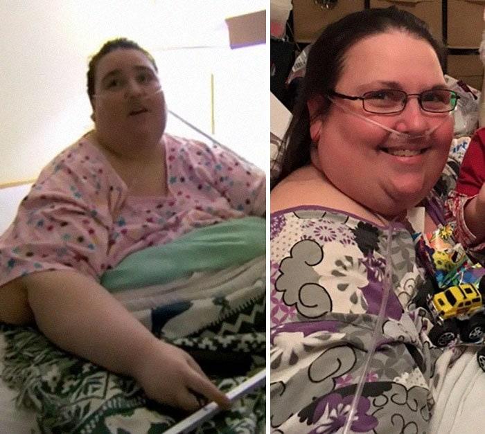 24. Пенни Сейга весила 224 кг, а похудела до 205 кг