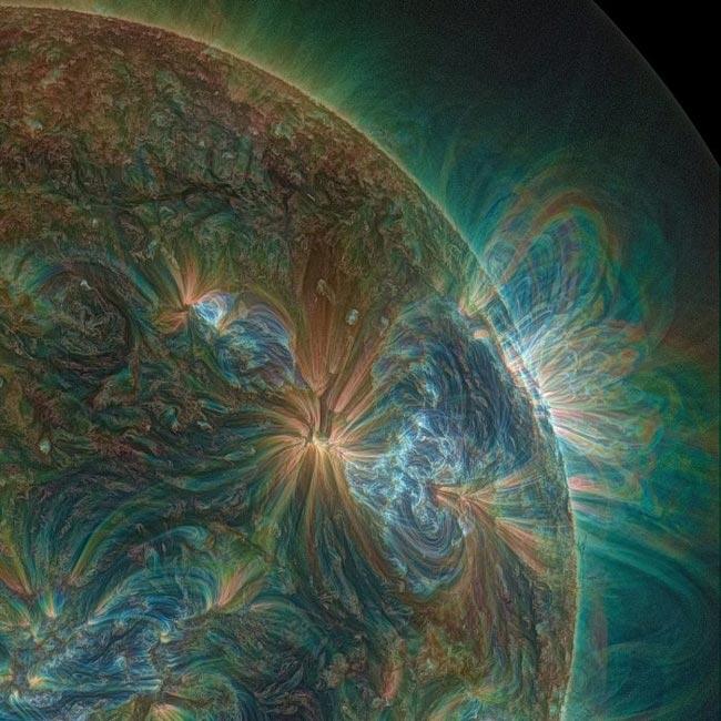 Так выглядит солнце через УФ-линзы