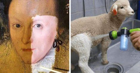 Фото вещей до и после чистки