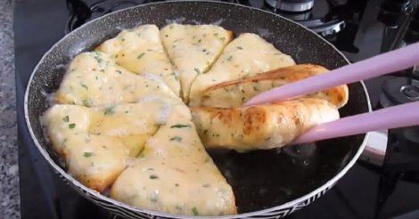 сырные треугольники на сковороде