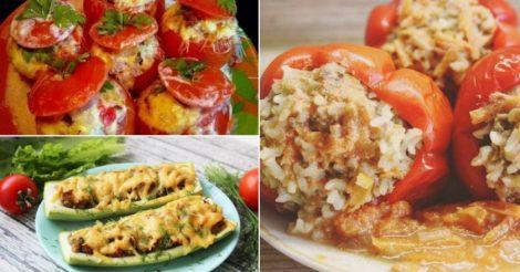 Фаршированные овощи: 5 рецептов