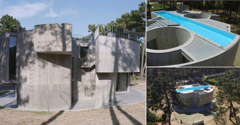 дом бассейн на крыше