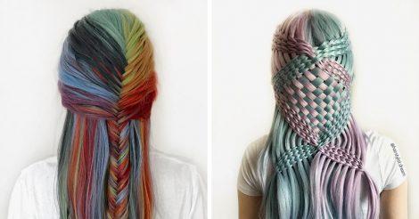 волосы в произведения искусства