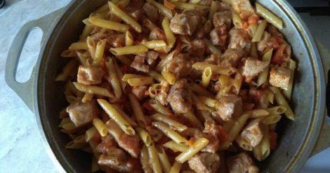 макароны с мясом