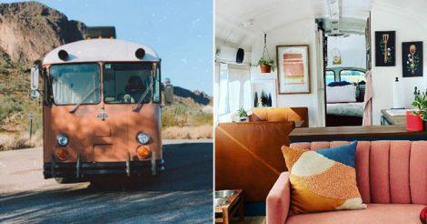 старый автобус дом
