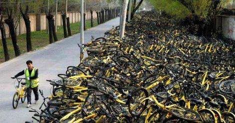 китайцы отказываются от велосипедов