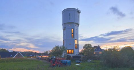 водонапорная башня дом