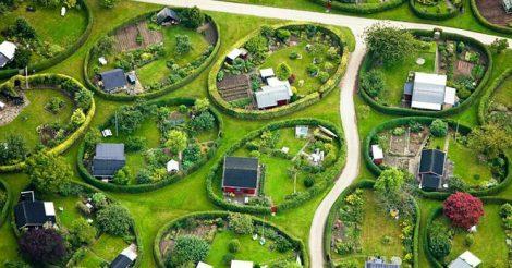 дворы в пригороде Копенгагена