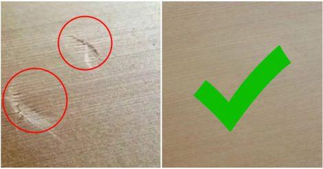 убрать вмятины с деревянной поверхности