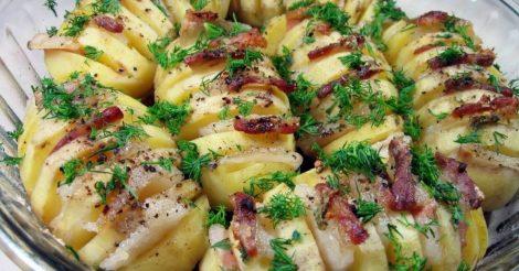 Картошка-гармошка из духовки