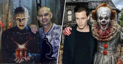 Страшные персонажи рядом с актерами