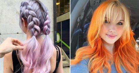 Смена цвета волос