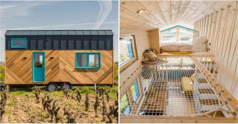 Крошечный дом с интересным дизайном