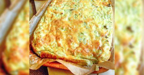 Сырная запеканка из кабачков