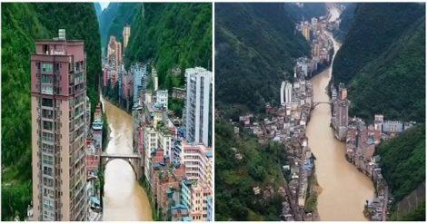 самый узкий город мира