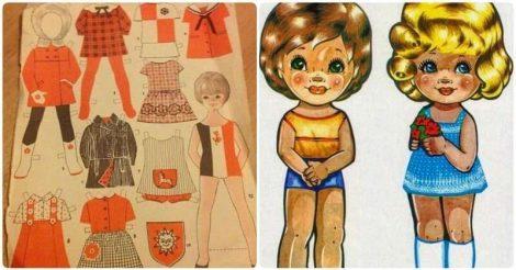 Бумажные куклы из нашего детства