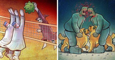 15 карикатур на современный мир